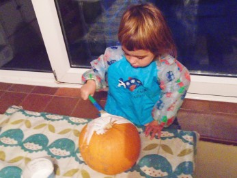 painting a pumpkin no carve