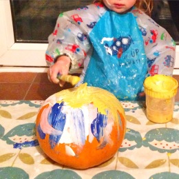 painting a pumpkin no carve for children