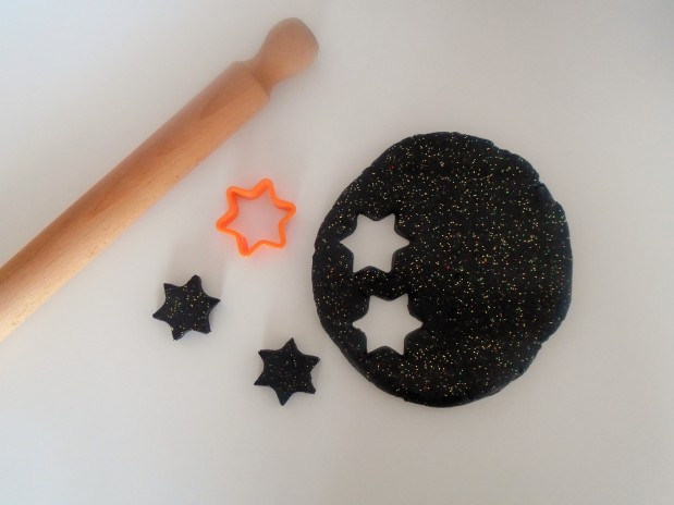 starry night black glittery play dough