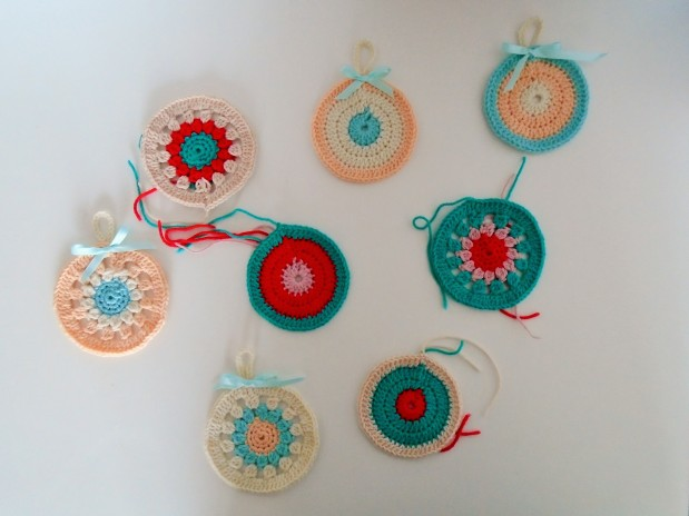 my crochet christmas baubles