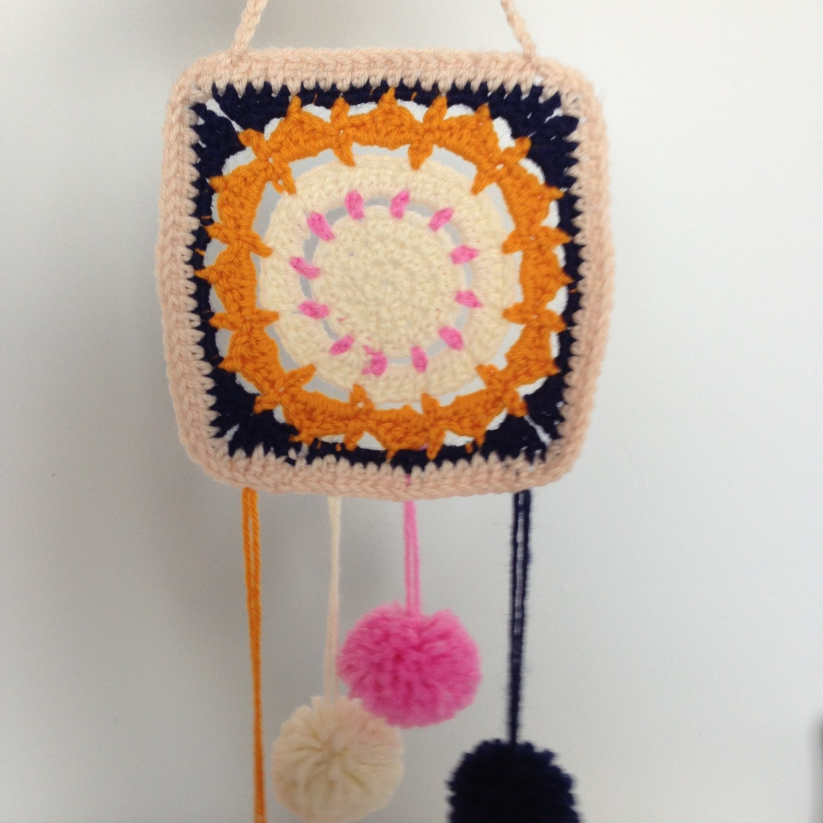 A little crochet wall hanging